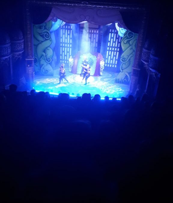Annual whole school Christmas trip to the Panto to see Jack and the Beanstalk
